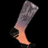 Merrell Reflective Print Performance Crew Sock, Size: S/M, Purple Ombre