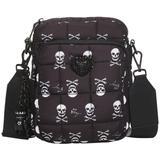 Puffy Nylon North/south Crossbody - Black - Betsey Johnson Shoulder Bags