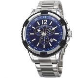 Chronograph Dial Watch - Blue - August Steiner Watches