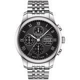T-classic Le Locle Valjoux Chronograph Watch - Black - Tissot Watches