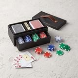 Leather Box Poker Set - Frontgate