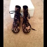 Converse Shoes | Floral Combat Bootssneakers | Color: Black/Red | Size: 6