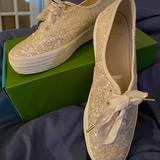 Kate Spade Shoes | Kate Spade Keds Wedding Shoes | Color: White | Size: 9.5
