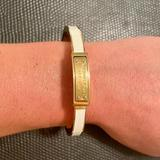 Michael Kors Jewelry | Michael Kors White And Gold Bangle Bracelet | Color: Gold/White | Size: Os