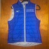Nike Jackets & Coats   Nike Women Duke University Puff Reversible Vest L   Color: Blue/Gray   Size: L