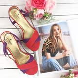 Kate Spade Shoes   Kate Spade Red Purple Strappy Platform Sandals 8   Color: Purple/Red   Size: 8