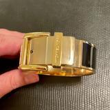 Michael Kors Jewelry | Michael Kors Black And Gold Bangle Bracelet | Color: Black/Gold | Size: Os
