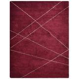 BBH Homes Hand Knotted Gabbeh Silk Runner Area Rug Solid Silk in Red, Size 96.0 W x 0.75 D in | Wayfair BBLS0188L0026A15H