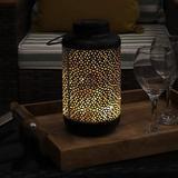 goodgou16 Almagra Decorative Jar Outdoor LED Solar Lantern w/ Warm White String Lights - 10-Inch - Light Up Your Patio, Deck, Yard, Garden, Or Porch