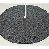 Belle By Jessi Slim White Dot Swirl Tree Skirt in Black, Size 0.0625 H x 26.5 W in | Wayfair TSS-BK-FUN