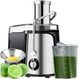 Love life Juicer Machine Centrifugal Juicer, Easy To Clean Juice Extractor, Juicer Machines For Vegetable & Fruit, 800 Watts in Black | Wayfair