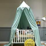 tarye Princess Canopy For Girls Bed w/ Tassels Hideaway Tent For Rooms Or Cribs Nursery For Decoration in Green, Size 106.3 H x 23.6 W x 23.6 D in