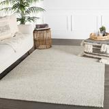 Gracie Oaks Erath Handmade Flatweave Wool Ivory/Gray Area Rug Wool in Brown/White, Size 96.0 W x 0.63 D in | Wayfair RUG113571