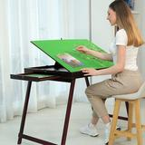 Polar Wooden Portable Jigsaw Puzzle Table w/ Storage Two Drawers, Folding Tilting Table For Puzzle Games 1500 Pieces Puzzles (Green) | Wayfair