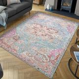 Bungalow Rose Biblis Area Rug Polyester/Cotton in Blue, Size 0.2 D in | Wayfair 2DC0A501D305422CB7D52C73671FF213