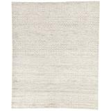 Foundry Select Wagram Hand-Knotted Wool Oatmeal Area Rug Wool in Gray, Size 120.0 W x 0.25 D in | Wayfair RUG138504