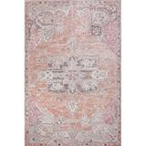 Bungalow Rose Biblis Area Rug Polyester/Cotton in Orange, Size 0.2 D in | Wayfair 81D6CBA8272345D4AD89BB767E930AB3