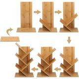 Latitude Run® Tree Bookshelf, Bamboo Bookcase Rack 4 Layers Of Bookshelf, Independent Storage Shelf, Book Storage Shelf Wood in Brown | Wayfair
