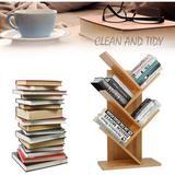 Latitude Run® Tree Bookcase Bookcase, Display & Storage Bookcase, Magazine Rack, Multi-Storey Floor Freestanding Wooden Bookcase Wood in Brown