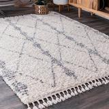 Dakota Fields Runner Geometric Beige Area Rug Polypropylene in White, Size 36.0 W x 1.54 D in | Wayfair 79652C0481424A4AA471D9EE950B6E7D