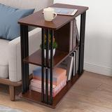 17 Stories Rustic End Table 3-Tier Chair Side Table Night Stand w/ Storage Shelf For Room, Size 35.0 H x 24.0 W x 11.0 D in   Wayfair