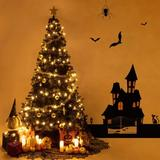 The Holiday Aisle® Halloween Artificial Christmas Tree 1400 Tips Seasonal Holiday Decoration Tree w/ Metal Stand For Home, Office, Party in Black