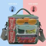 Arlmont & Co. Insulated Reusable Lunch Bag Adult Large Lunch Box For Women & Men w/ Adjustable Shoulder Strap in Green | Wayfair