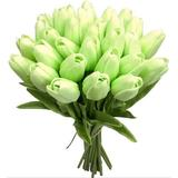 Primrue Artificial Tulips Flowers Real Touch Tulips Fake Holland PU Tulip Bouquet Latex Flowers For Wedding Party Office Home Kitchen Decoration Plastic