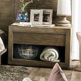 Laurel Foundry Modern Farmhouse® Finck 1 - Drawer Nightstand in Light Walnut Wood in Brown/Green, Size 22.0 D in   Wayfair