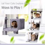 Tucker Murphy Pet™ Cat Tree Cat Tower For Indoor Cats Kittens, Multi-Level Cat Condo w/ Hammock & Scratching Posts For Large Cats in Gray | Wayfair