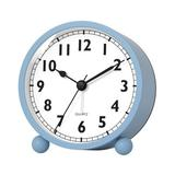 Latitude Run® Silent Analog Alarm Clock w/ Night Light,Beep Sounds,Gentle Wake,Battery Operated,Easy Set in Blue, Size 3.35 H x 3.15 W x 1.85 D in
