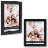 "Latitude Run® Filley 2 Piece 8"" x 10"" Wood Shadow Box Frame Set Wood in Black, Size 11.4 H x 9.4 W x 0.7 D in | Wayfair"