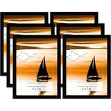 Latitude Run® 6 Piece Plastic Gallery Wall Set in Plastic in Black, Size 5.0 H x 7.0 W x 0.5 D in | Wayfair 804F4851025348A79C181B6C2D8C74FD