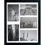 Latitude Run® 11X14 Collage Picture Frame - Mat Displays 4X6 Inch Photos - Gallery Wide Molding - Includes Both Attached Hanging Hardware   Wayfair