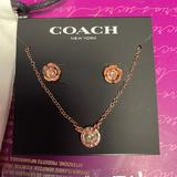 Coach Jewelry   Coach Rose Gold Necklace With Matching Earrings   Color: Gold   Size: 16-18