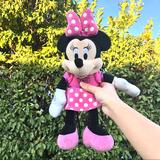 Disney Toys   Minnie Mouse Stuffed Animal Plush Toy   Color: Black/Pink   Size: One Size