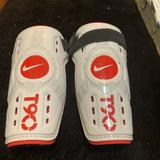 Nike Other   Nike Kids Soccer T90 Shin Guards White Red Large   Color: Red/White   Size: Large