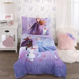Disney Other | Disney Frozen 2 4-Piece Toddler Comforter Set | Color: White/Silver | Size: Osg