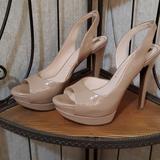 Jessica Simpson Shoes | Jessica Simpson Sabella Natural Leather Slingback | Color: Tan | Size: 8m