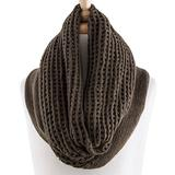 Love, Kuza Women's Accent Scarves Olive - Olive Net-Knit Infinity Scarf - Women