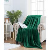 ELLE Decor Throws Dark - Dark Green Oversize Plush Velvet Throw