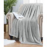 ELLE Decor Throws Light - Light Gray Oversize Plush Velvet Throw