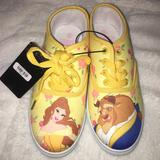 Disney Shoes | Beauty And The Beast Shoes Size 5 | Color: Gold/Yellow | Size: 5bb