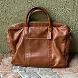 Coach Other | Coach Brown Leather Soft Briefcase | Color: Brown | Size: 16x3x12