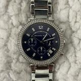 Michael Kors Accessories | Michael Kors Navy Stainless Steel Ladies Watch | Color: Blue/Silver | Size: Os
