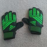 Adidas Other | Adidas Kids Soccer Gloves | Color: Black/Green | Size: Osb