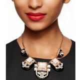 Kate Spade Jewelry | Imperial Tile Collar Necklace - Gold Toneblack | Color: Black/Gold | Size: Os