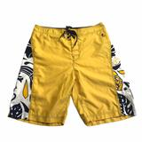 American Eagle Outfitters Swim | American Eagle Board Shorts Sz 34 | Color: White/Yellow | Size: 34