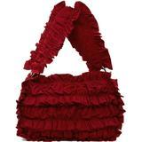 Red Frill Shoulder Bag - Red - Molly Goddard Shoulder Bags
