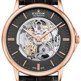 Les Bemonts Skeleton Dial Automatic Watch 37r Gir - Metallic - Edox Watches